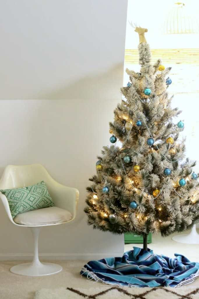 Bohemian Modern Christmas in blues and greens