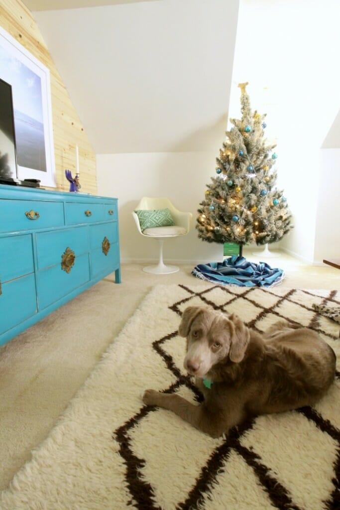 Modern Bohemian Bedroom at Christmas