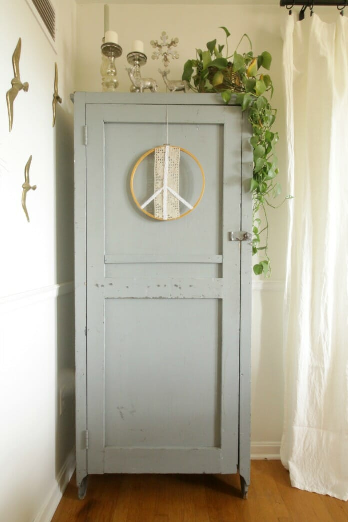 Dining Room Cabinet with peace sign