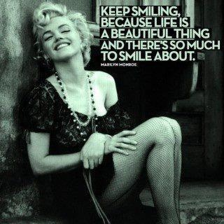 marilyn monroe smile quote