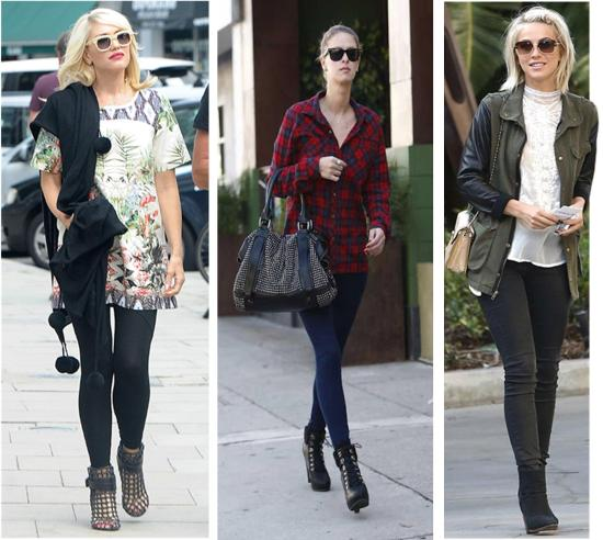 autumn winter 2013 shoe footwear trends ankle boots gwen stefani nicky hilton julianne hough