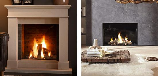 modern balanced flue gas fireplaces