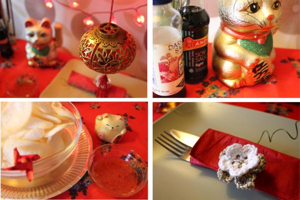 oriental inspirations for chinese new year table settings