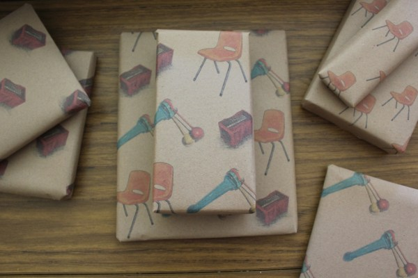 diy wrapping paper tutorial and printable