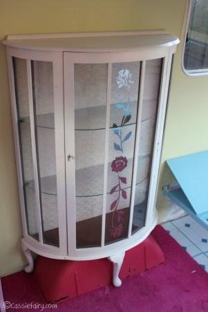 Vintage caravan project - DIY painted cabinet furniture makeover-14