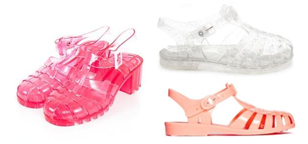 jelly shoes for summer 2014 from asos new look and mr shoes