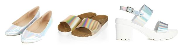 summer 2014 footwear trend - iridescent shoes