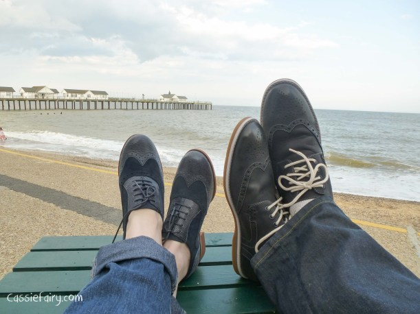 blue suede shoes - his n hers brogues_