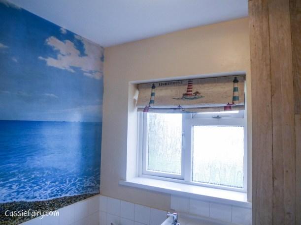DIY bathroom roman blind-1