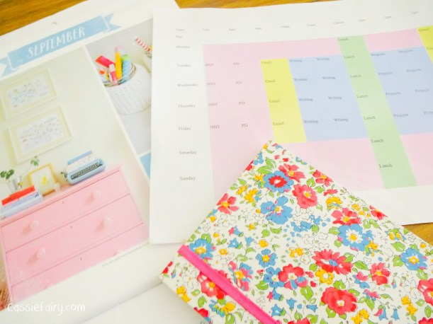 Tips for working from home - Creating a timetable plan