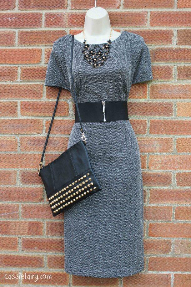 David Emanuel tweed dress styled 4 ways-13