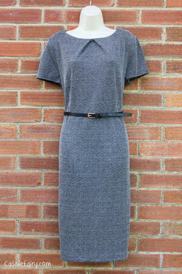 David Emanuel tweed dress styled 4 ways