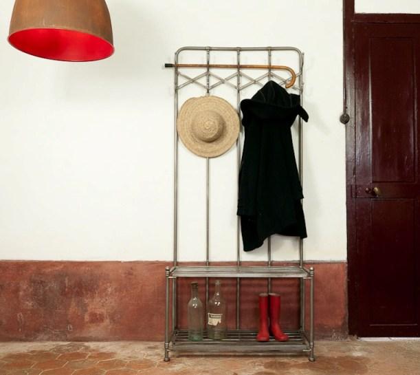 industrial coat rack entrance hallway decorating ideas