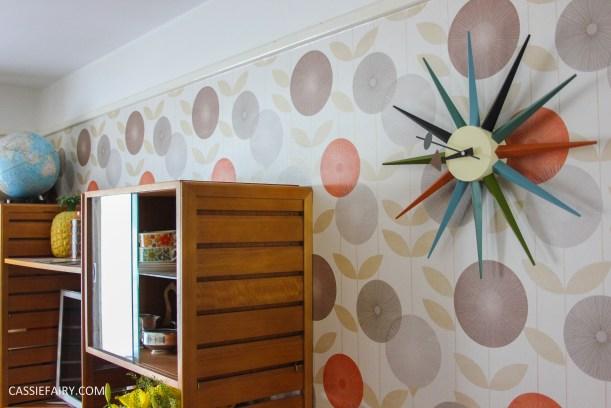mid century modern interior design starburst clock-7