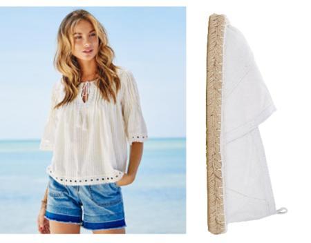 fashion trend summer 2016 espadrilles denim white blue