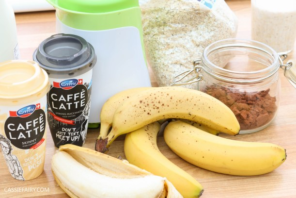 healthy breakfast recipe inspiration friyay smoothie oats coffee latte banana chocolate-20
