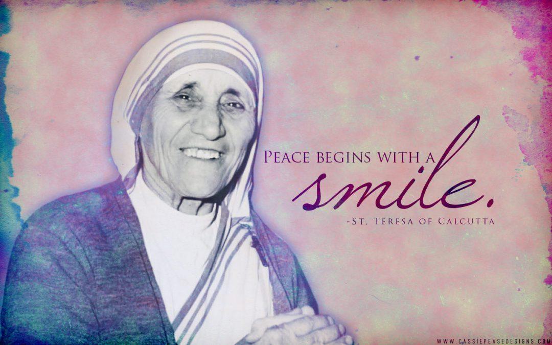 Quote Wallpaper For Men Desktop Mother Teresa Smile Desktop Wallpaper Cassie Pease Designs