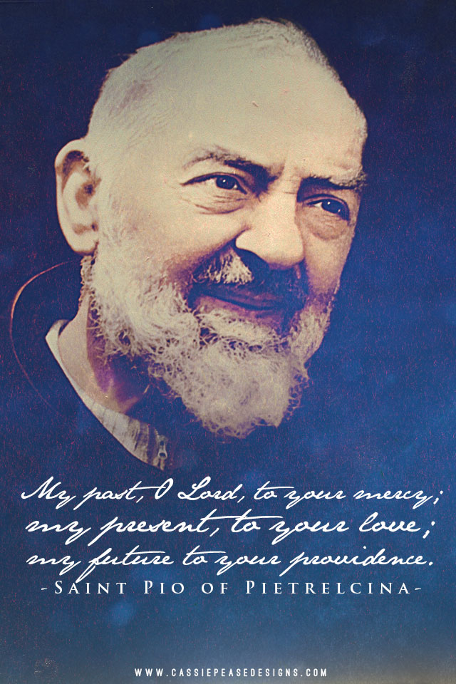 Beautiful Quotes Wallpaper For Facebook Padre Pio Blue Mobile Wallpaper Cassie Pease Designs