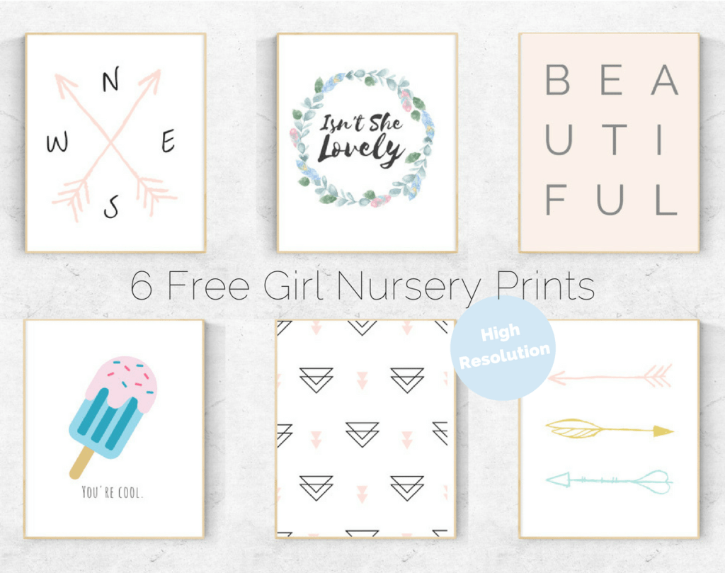 Nursery Prints Girl 6 Free Girl S Nursery Prints Cassie Scroggins