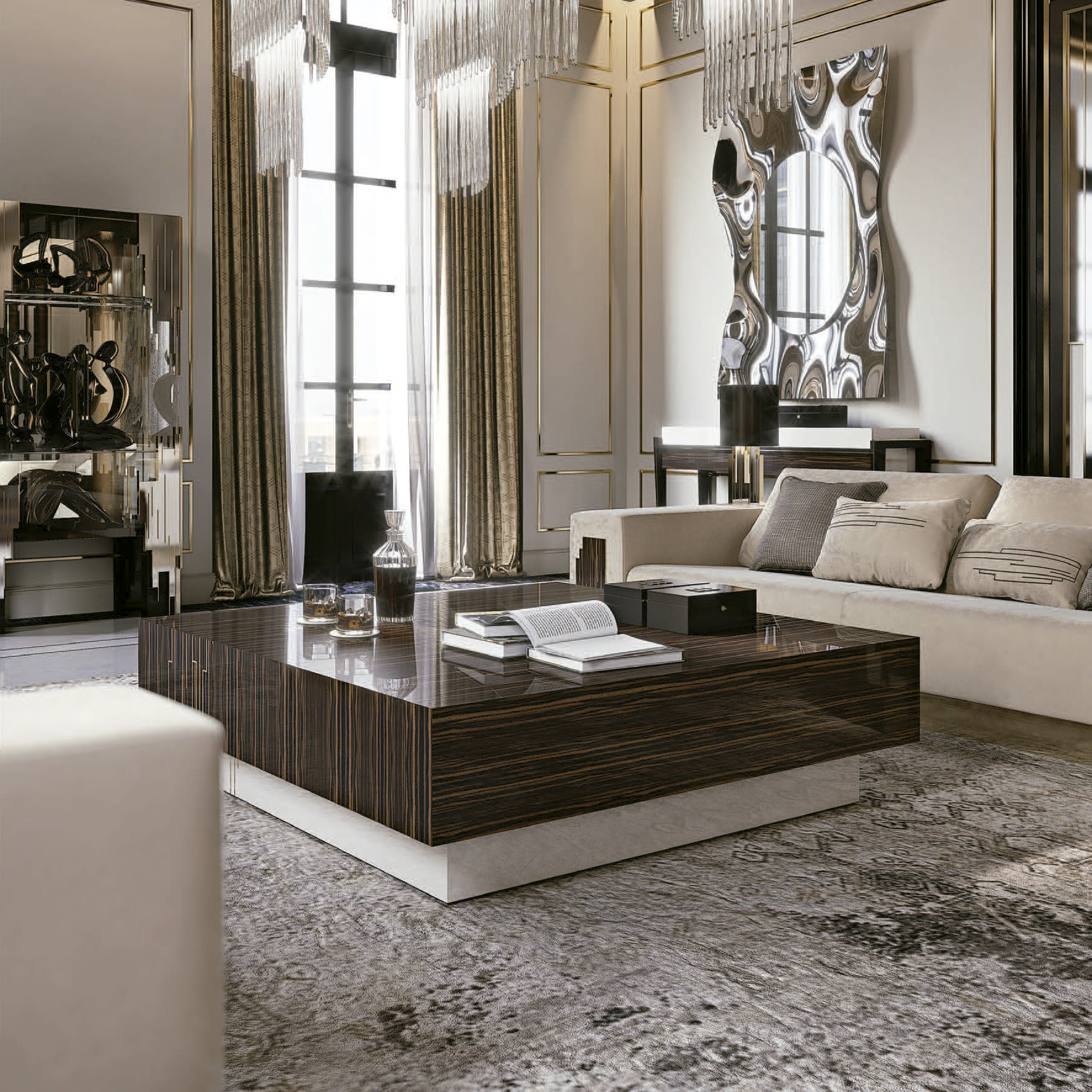 High End Coffee Tables Living Room High End Italian Designer Belle Epoque Coffee Table
