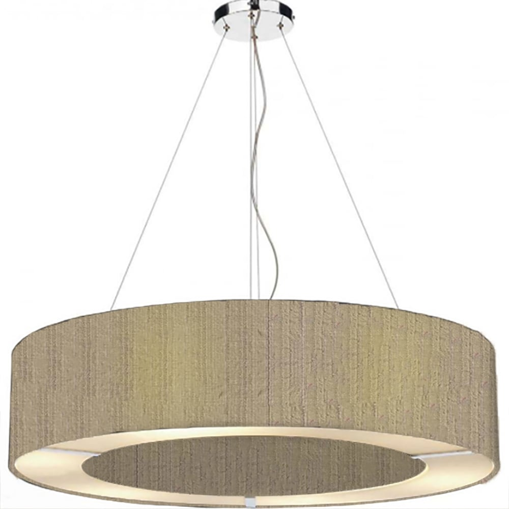 Ceiling Light Shades The Light Shade Studio Pol0401 Polo 4 Light Ceiling Pendant With 100 Silk Taupe Shade
