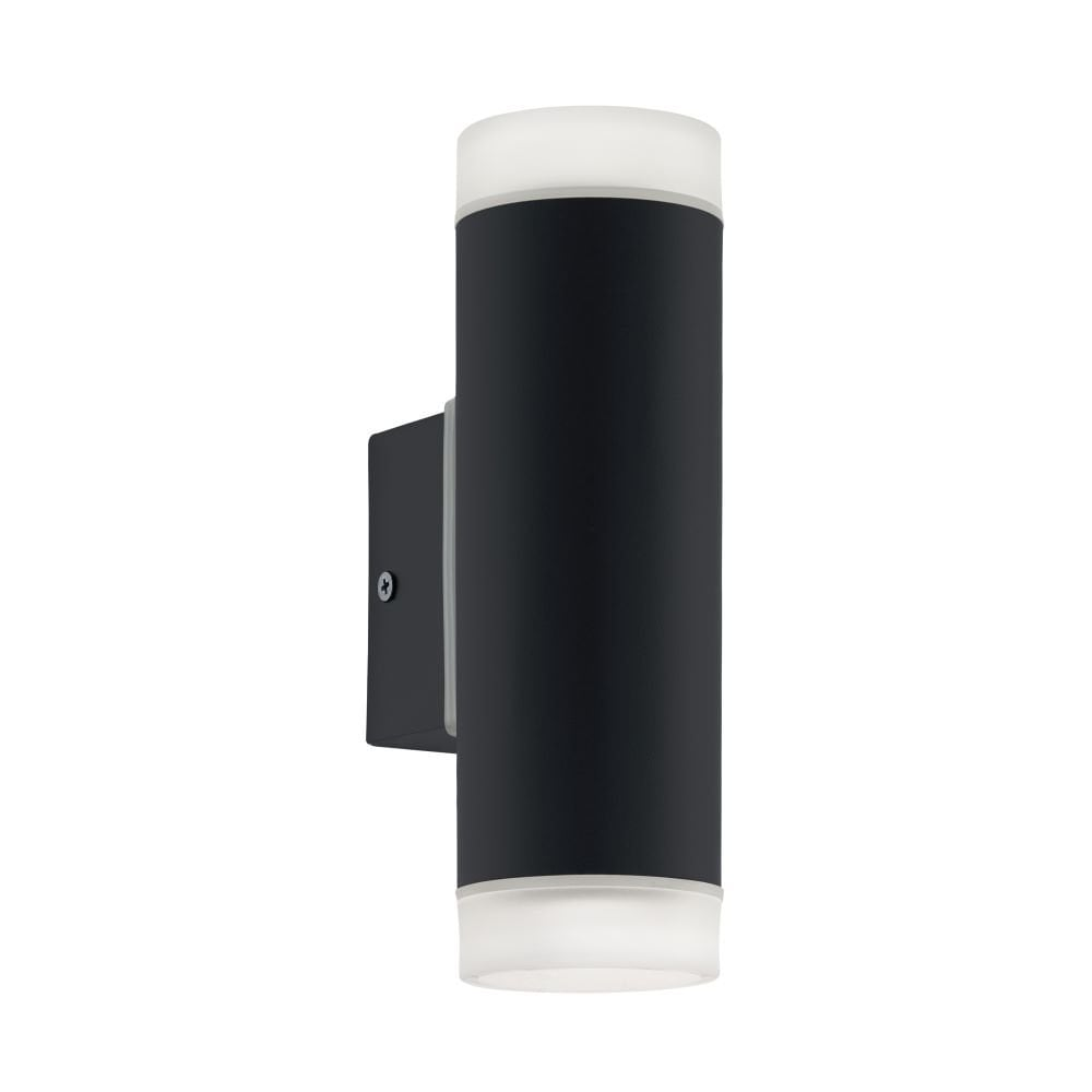 Eglo Riga Led Outdoor Wall Light 96505 Riga Led 2 Light Outdoor Wall Fitting In Black Finish