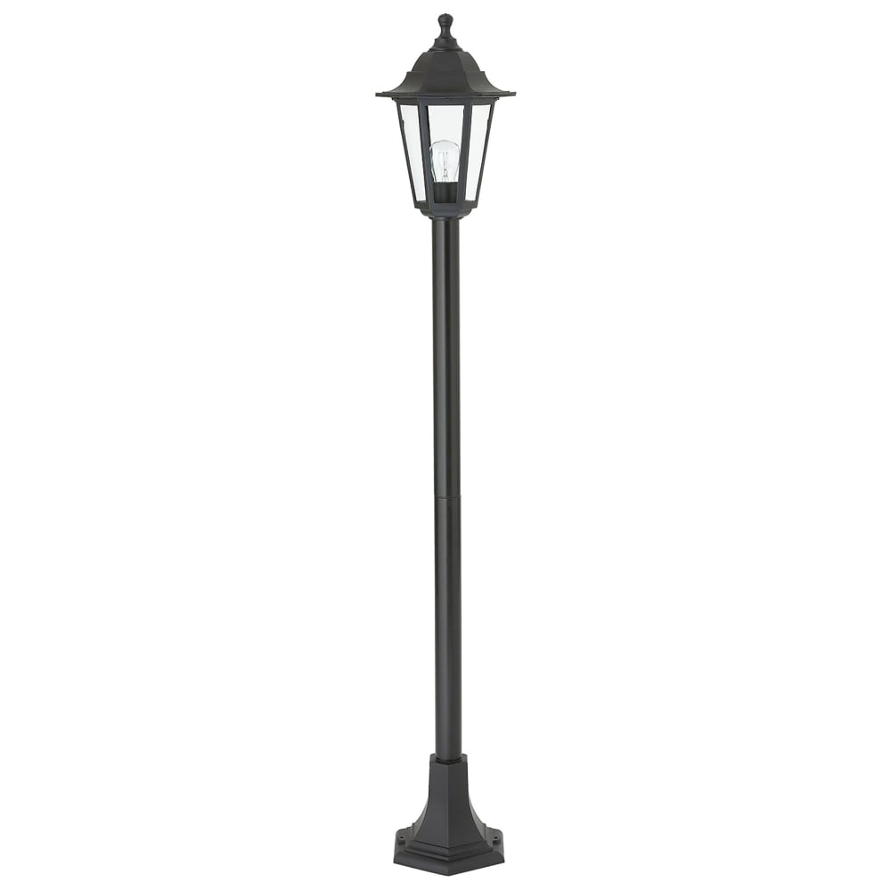 Fittingen Lampen Endon Lighting Bayswater Single Light Outdoor Lamp Post Fitting In Black Finish With Clear Glass