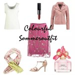 Sommeroutfit farbe colourful tüllrock