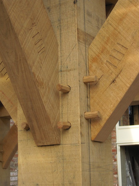 Barn Door Frame Joint Clash - Timber Framing Blog From Castle Ring Oak Frame
