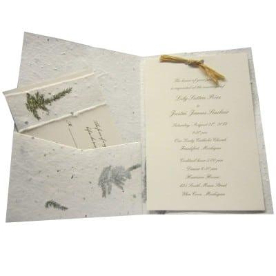 Eco-Friendly Guest Books Cast Paper Art - wedding program inclusions
