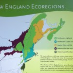 map of New England ecoregions at the Garden in the Woods in Framingham, MA