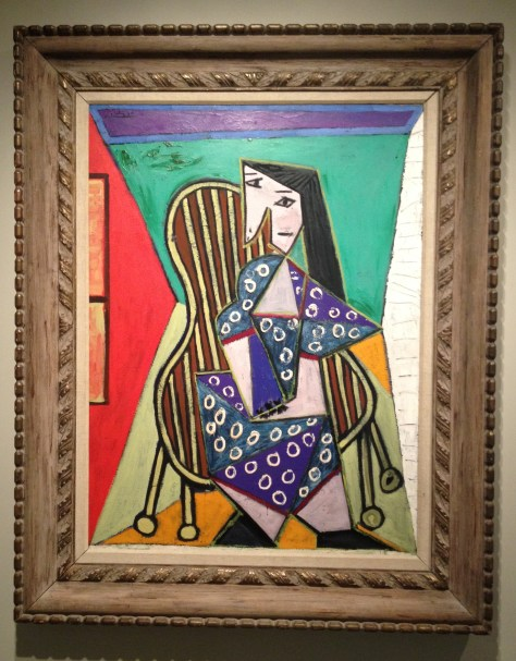 Woman Seated in a Chair, by Pablo Picasso, at the Currier Museum in Manchester, NH