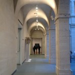 the first floor arcade at the Harvard Art Museums