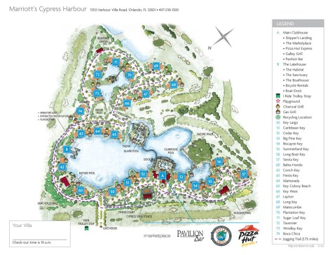 "Marriott Cypress Harbour ""village"" map"