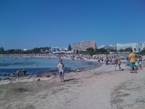 Beach near the Protur Safari Park Aparthotel, Sa Coma,  Mallorca, Spain