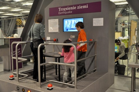Earthquake simulator at the Copernicus Science Centre in Warsaw, Poland