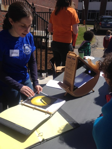 Sunspotter on display during the Cambridge Science Festival event at the Harvard-Smithsonian Center for Astrophysics