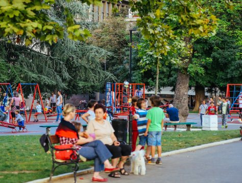 playground in Belgrade, Serbia, courtesy of Tangerine from A Travelogue by Brock and Tanj