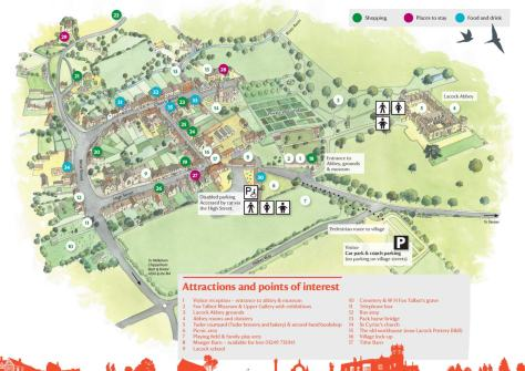map of the Lacock village from www.nationaltrust.org.uk, but unfortunately the link I originally had here is broken, so I can't link to the original