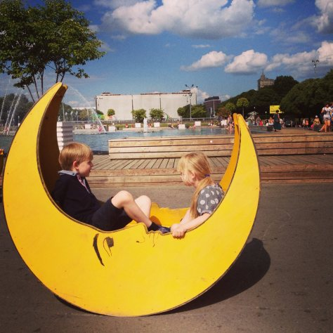 playground in Gorky Park, Moscow, Russia, courtesy of Globalmouse Travels