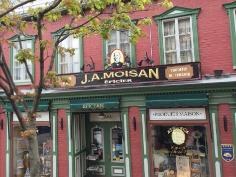 J. A. Moisan on rue Saint Jean, which claims to be the oldest grocery store in North America