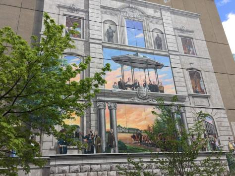 Fresque BMO de la capitale nationale du Québec