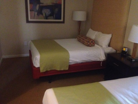 two beds in the second bedroom of our three bedroom suite at the Wyndham in Myrtle Beach