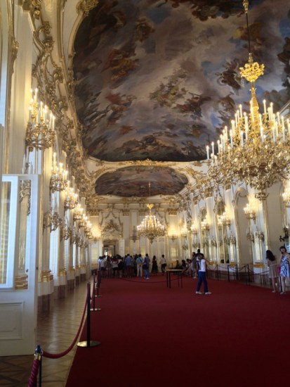 The Great Gallery at the Schönbrunn Palace