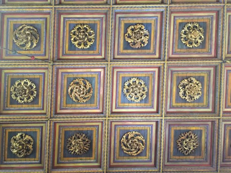 ceiling at the Aula or Assembly Hall at Collegium Maius, now the museum of Jagiellonian University