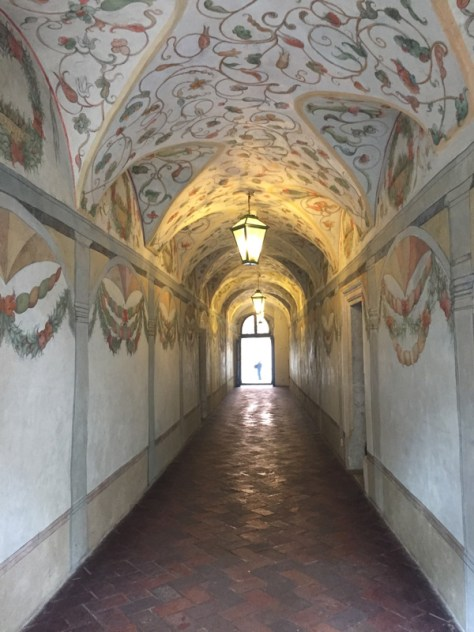 Long Hallway leading to the Professors' Garden