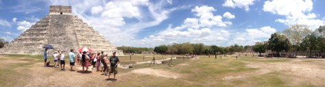 panoramic view of the temple of Kukulkan