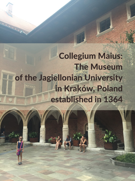 Collegium Maius: The Museum of the Jagiellonian University in Krakow, Poland, establisehd in 1364