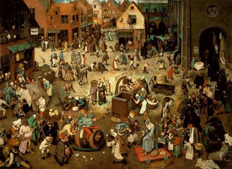 Pieter Bruegel the Elder, The Fight between Carnival and Lent