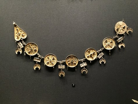 silver, gold plated necklace